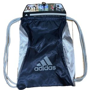 $5/Purchase Adidas NWT Sackpack Navy and Grey